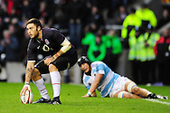 London - Saturday, November 14th 2009: Matt Banahan of England goes over to score a try during the Investec Challenge Series Game at Twickenham, London. ..(Pic by Alex Broadway/Focus Images)