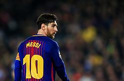 Lionel Messi of Barcelona looks on - Mandatory by-line: Matt McNulty/JMP - 14/03/2018 - FOOTBALL - Camp Nou - Barcelona, Catalonia - Barcelona v Chelsea - UEFA Champions League - Round of 16 Second Leg