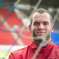 St Johnstone keeper Alan Mannus pictured ahead of Sunday's game against Celtic.<br /> Picture by Graeme Hart.<br /> Copyright Perthshire Picture Agency<br /> Tel: 01738 623350  Mobile: 07990 594431