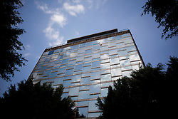 Productora's office is on the Penthouse of this building in Mexico City.