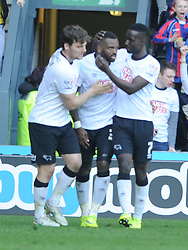 Derby Darren Bent Celebrates after scoring Derby Equalier Goal  in Extra Time, Derby County, Derby County v Brentford, Sky Bet Championship, IPro Stadium, Saturday 11th April 2015. Score 1-1,  (Bent 92) (Pritchard 28)<br /> Att 30,050