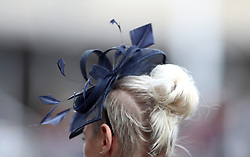 A detailed view of a fascinator during Ladies Day of the 2018 Cheltenham Festival at Cheltenham Racecourse. PRESS ASSOCIATION Photo. Picture date: Wednesday March 14, 2018. See PA story RACING Cheltenham. Photo credit should read: Tim Goode/PA Wire. RESTRICTIONS: Editorial Use only, commercial use is subject to prior permission from The Jockey Club/Cheltenham Racecourse.