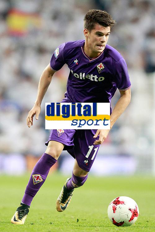 ACF Fiorentina's Ianis Hagi during Santiago Bernabeu Trophy. August 23,2017. (ALTERPHOTOS/Acero)