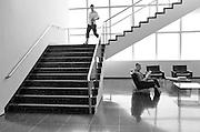 Woman sitting at MOMA