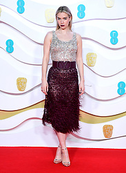 Vanessa Kirby attending the 73rd British Academy Film Awards held at the Royal Albert Hall, London.