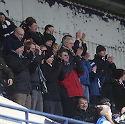Dundee fans at full time - Kilmarnock v Dundee - Clydesdale Bank Scottish Premier League at Rugby Park. - © David Young - www.davidyoungphoto.co.uk - email: davidyoungphoto@gmail.com