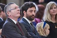 Aberto Ruiz Gallardon attends the Delivery of the National Research Awards 2019 at Palacio Real de El Pardo on February 17, 2020 in Madrid, Spain