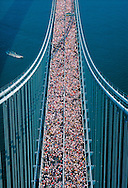 New York Marathon,Verrazano-Narrows Bridge, connecting Brooklyn and Staten Island, New York City, New York