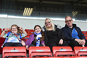 Three generations of Rochdale fans during the EFL Sky Bet League 1 match between Rochdale and Gillingham at Spotland, Rochdale, England on 23 September 2017. Photo by Daniel Youngs.