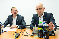 Enzo Smrekar and  Jozko Krizan during meeting of Executive Committee of Ski Association of Slovenia (SZS) on September 22, 2015 in SZS, Ljubljana, Slovenia. Photo by Vid Ponikvar / Sportida