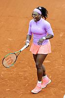 Serena WILLIAMS  - 26.05.2015 - Jour 3 - Roland Garros 2015<br /> Photo : Nolwenn Le Gouic / Icon Sport