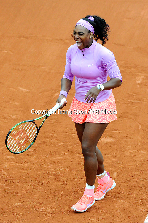 Serena WILLIAMS  - 26.05.2015 - Jour 3 - Roland Garros 2015<br /> Photo : Nolwenn Le Gouic / Icon Sport