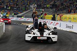 27.11.2010, Esprit Arena, Düsseldorf, GER, Race of Champions, im Bild Sebastian Vettel (GER, F1 Red Bull Racing)) auf der Ehrenrunde, EXPA Pictures © 2010, PhotoCredit: EXPA/ A. Neis