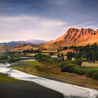 Job110101_NewZealand_DSC2101_NX.tif.Overlooking the Tuki Tuki River to Te Mata Peak .Near Hastings, North Island New Zealand...