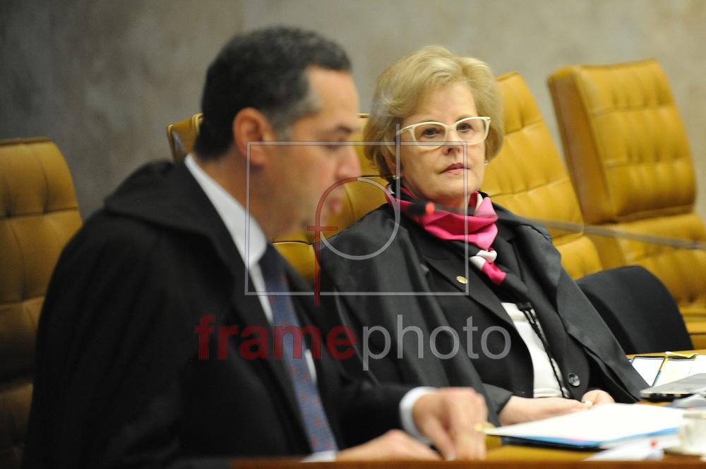 O ministro Luís Roberto Barroso no plenário do STF na tarde desta quarta-feira, 16/03/2016. Hoje o Supremo deve definir as regras para o processo de impeachment da presidente Dilma Rousseff na Câmara dos Deputados. Foto: Andressa Anholete/FramePhoto