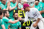 May 25-29, 2016: Monaco Grand Prix. Lewis Hamilton (GBR), Mercedes celebrates with the Mercedes team
