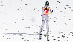 06.01.2016, Paul Ausserleitner Schanze, Bischofshofen, AUT, FIS Weltcup Ski Sprung, Vierschanzentournee, Bischofshofen, Finale, im Bild Peter Prevc (SLO) // Peter Prevc of Sloveniac elebrate after his 1st round jump of the Four Hills Tournament of FIS Ski Jumping World Cup at the Paul Ausserleitner Schanze in Bischofshofen, Austria on 2016/01/06. EXPA Pictures © 2016, PhotoCredit: EXPA/ JFK
