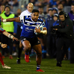 Cooper Vuna of Bath Rugby during the Gallagher Premiership match between Bath Rugby and Sale Sharks at the The Recreation Ground Bath England.2nd December 2018,(Photo by Steve Haag Sports)
