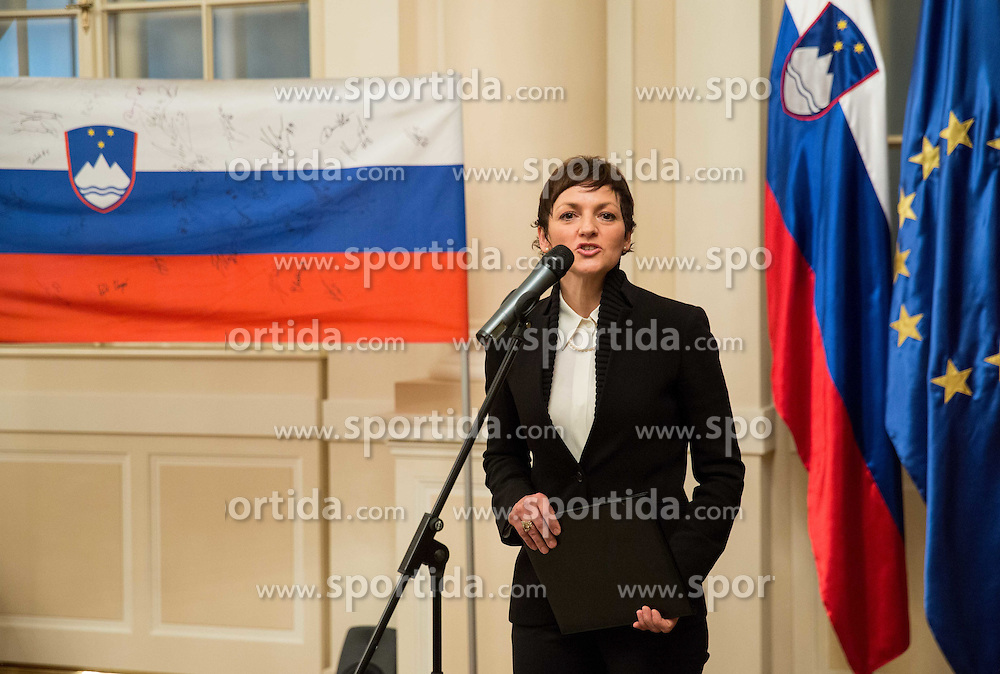 Maja Makovec Brencic  during reception of Slovenian Athletes at president of Republic of Slovenia before  Best sports personality of the year 2015 awards, on December 8, 2015 in President palace, Ljubljana, Slovenia. Photo by Vid Ponikvar / Sportida
