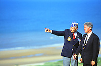Bill Clinton at Omaha Beach, on anniversary of D-Day