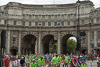 Riders taking part in the Prudential RideLondon FreeCycle pass under Admiralty Arch and onto Trafalgar Square. Prudential RideLondon is the world's greatest festival of cycling, involving 95,000+ cyclists – from Olympic champions to a free family fun ride - riding in five events over closed roads in London and Surrey over the weekend of 1st and 2nd August 2015.<br /> <br /> Photo: Thomas Lovelock for Prudential RideLondon<br /> <br /> See www.PrudentialRideLondon.co.uk for more.<br /> <br /> For further information: Penny Dain 07799 170433<br /> pennyd@ridelondon.co.uk