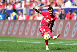 September 30, 2018 - Harrison, New Jersey, USA - New York Red Bulls Midfielder  ALEJANDRO GAMARRA (10) sends in a free kick at Red Bull Arena in Harrison New Jersey New York defeats Atlanta 2 to 0 (Credit Image: © Brooks Von Arx/ZUMA Wire)