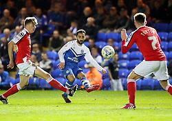 Peterborough United's Erhun Oztumer puts a cross in - Photo mandatory by-line: Joe Dent/JMP - Mobile: 07966 386802 - 14/04/2015 - SPORT - Football - Peterborough - ABAX Stadium - Peterborough United v Crewe Alexandra - Sky Bet League One