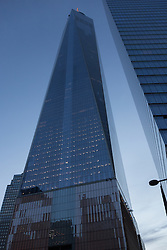 One World Trade Center East Elevation at Dusk. 20 May 2015