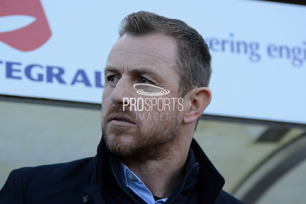 Birmingham City manager Gary Rowett during the Sky Bet Championship match between Bristol City and Birmingham City at Ashton Gate, Bristol, England on 30 January 2016. Photo by Alan Franklin.