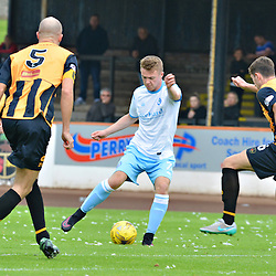 Josh Peters of Forfar takes on three defenders at Berwick.....(c) BILLY WHITE | SportPix.org.uk
