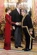 012617 Spanish Royals Receive Foreign Ambassadors