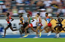 Eliud Kipchoge of Kenya,  Moses Ndiema Kipsiro of Uganda, Bekana Daba of Ethiopia, Morhad Amdouni of France,  Kidane Tadasse of Eritrea and  Bernard Lagat of USA compete in the men's 5000 Metres 1st Round during day six of the 12th IAAF World Athletics Championships at the Olympic Stadium on August 20, 2009 in Berlin, Germany. (Photo by Vid Ponikvar / Sportida)