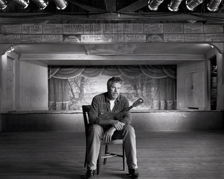 Robert Earl Keen, photographed at Gruene Hall in New Braunfels, Texas.