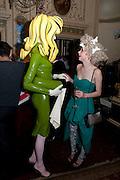 PANDEMONIA; LAURA GREENWOOD; Philip Sallon's mass paranoia swine flu birthday party. Home House. Portman Sq. London. 13 November 2009.