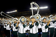 Oct 7, 2017; Ann Arbor, MI, USA; Michigan State Spartans band on the sideline during the first half against the Michigan Wolverines at Michigan Stadium. Mandatory Credit: Rick Osentoski-USA TODAY Sports