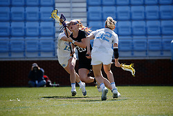 CHAPEL HILL, NC - MARCH 02: Claire Quinn #28 of the Northwestern Wildcats during a game against the North Carolina Tar Heels on March 02, 2019 at the UNC Lacrosse and Soccer Stadium in Chapel Hill, North Carolina. North Carolina won 11-21. (Photo by Peyton Williams/US Lacrosse)