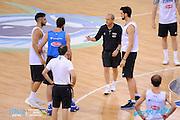 DESCRIZIONE: Torino FIBA Olympic Qualifying Tournament Allenamento<br /> GIOCATORE: Ettore Messina Riccardo Cervi<br /> CATEGORIA: Nazionale Maschile Senior Allenamento<br /> GARA: FIBA Olympic Qualifying Tournament Allenamento<br /> DATA: 05/07/2016<br /> AUTORE: Agenzia Ciamillo-Castoria