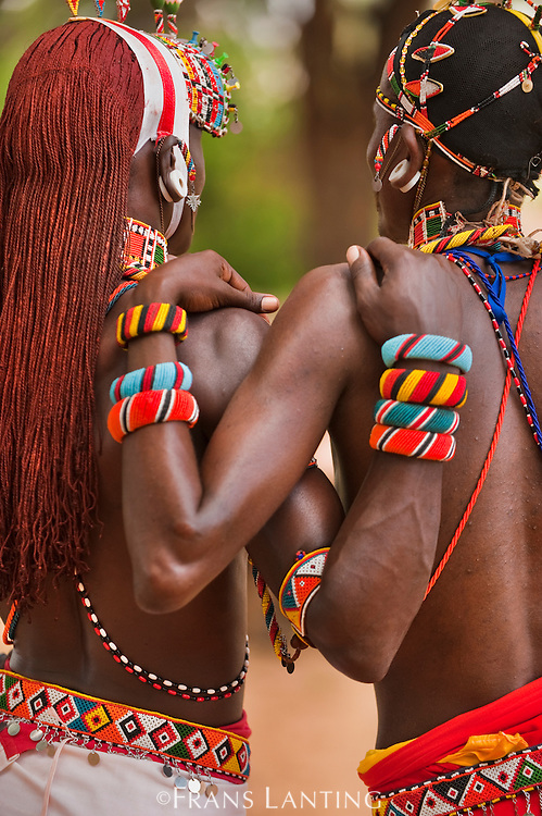 Samburu warriors, near Samburu National Reserve, Kenya