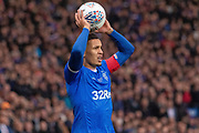 James Tavernier (C) of Rangers FC during the Betfred Scottish League Cup Final match between Rangers and Celtic at Hampden Park, Glasgow, United Kingdom on 8 December 2019.