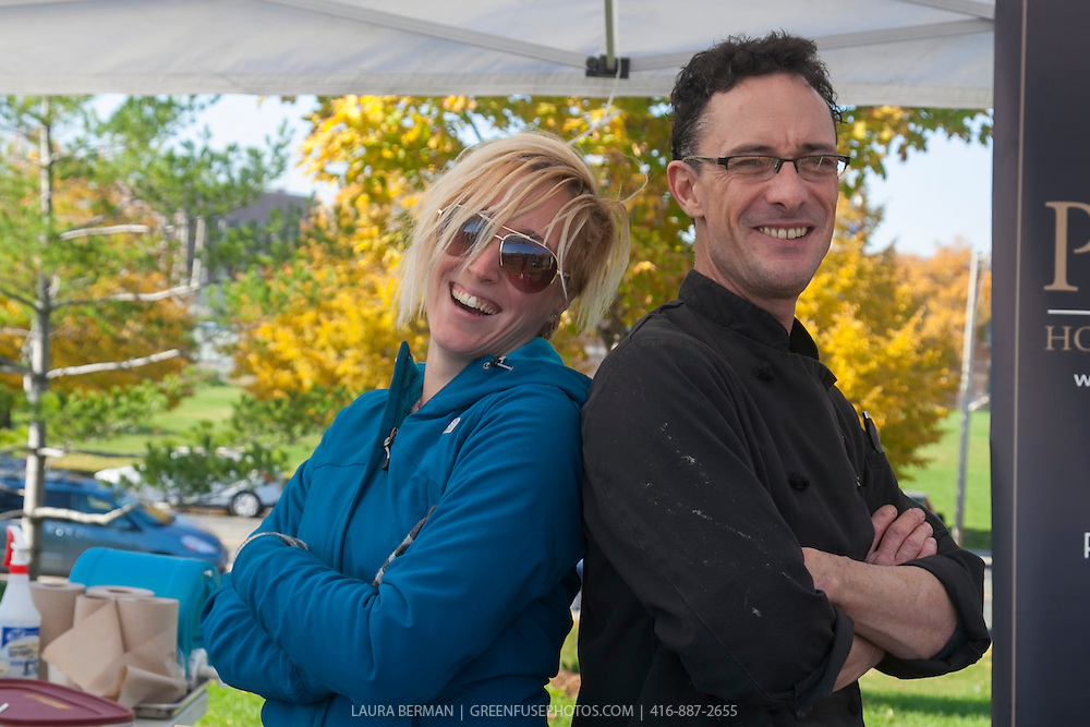 Chefs Chrystal Porter and Steffan Howard at Soupstock.