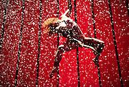 Edinburgh Festival Fringe Photocalls 31st July 2014.<br /> <br /> No Fit State Circus : Bianco<br /> Sage Bachtler Cushman<br /> <br /> <br /> Photograph by Alex Hewitt<br /> alex.hewitt@gmail.com<br /> 07789 871540