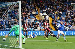 Gary Hooper of Sheffield Wednesday scores his sides first goal to make it 1-2  - Mandatory by-line:  Matt McNulty/JMP - 24/09/2017 - FOOTBALL - Hillsborough - Sheffield, England - Sheffield Wednesday v Sheffield United - Sky Bet Championship