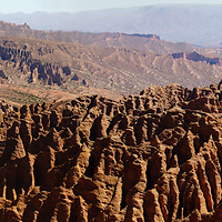 El Sillar or Valley of the Moon, where as a product of erosion, its displays like a desert moon landscape of cactus and craters and peaks.