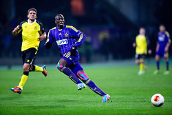 Jean Philippe Mendy #14 of Maribor during football match between NK Maribor and Sevilla FC (ESP) in 1st Leg of Round of 32 of UEFA Europa League 2014 on February 20, 2014 at Stadium Ljudski vrt, Maribor, Slovenia. Photo by Matic Klansek Velej / Sportida