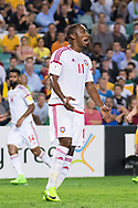 March 28 2017: United Arab Emirates Ahmed KHALIL (11) not happy with missing his goal at the 2018 FIFA World Cup Qualification match, between The Socceroos and UAE played at Allianz Stadium in Sydney.