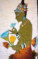 Sri Lanka - Batik - Artisanat representation des Grottes de Sigiriya