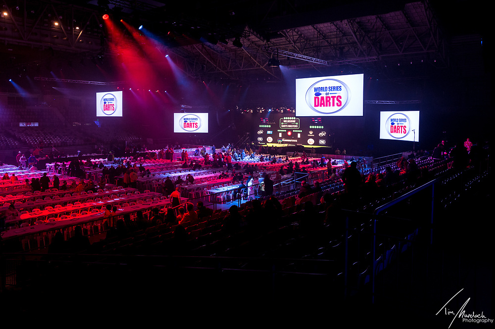 MELBOURNE, Australia - Friday 18 August 2017 :<br /> <br /> The arena during the Unibet Melbourne Dart Masters at Hisense Arena on Friday 18 August 2017.<br /> <br /> <br /> Photo Credit: Tim Murdoch/Tim Murdoch Photography