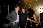 SIR PAUL SMITH;  PAUL SIMONON; SERENA REES;, Damien Hirst party to preview his exhibition at Sotheby's. New Bond St. London. 12 September 2008 *** Local Caption *** -DO NOT ARCHIVE-© Copyright Photograph by Dafydd Jones. 248 Clapham Rd. London SW9 0PZ. Tel 0207 820 0771. www.dafjones.com.