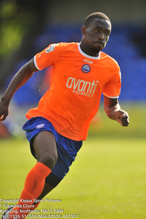 Simeon Akinola Fires in Braintree Town Goal and Celebrates,  Braintree Town v Barrow AFC, Avanti Stadium Braintree, Vanarama National League, Saturday, 12th September 2015. Braintree Town v Barrow AFC, Avanti Stadium Braintree, Vanarama National League, Saturday, 12th September 2015.