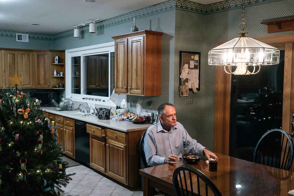 Jared Taylor, editor of the white nationalist publication American Renaissance and a member of the so-called alt-right, a far-right fringe movement that embraces white nationalism and a range of racist and anti-immigrant positions, eats breakfast at his home in Virginia on Dec. 5, 2016.